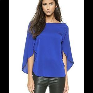 Milky butterfly silk blouse
